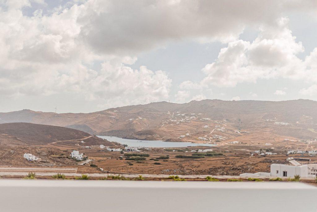 Stunning view of Mykonos as seen from villa Iris. A 1 bedroom luxury villa in Ftelia, Mykonos.